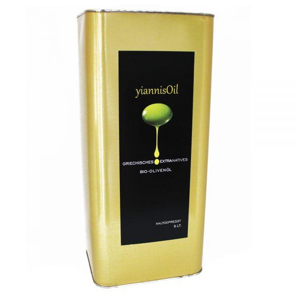 yiannisOil Bio-Olivenöl 5 Liter Kanister